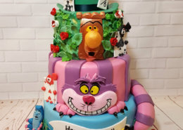 Alice in Wonderland tier birthday cake- Tamworth