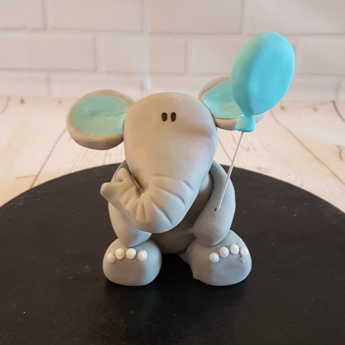 baby blue elephant cake topper - tamworth