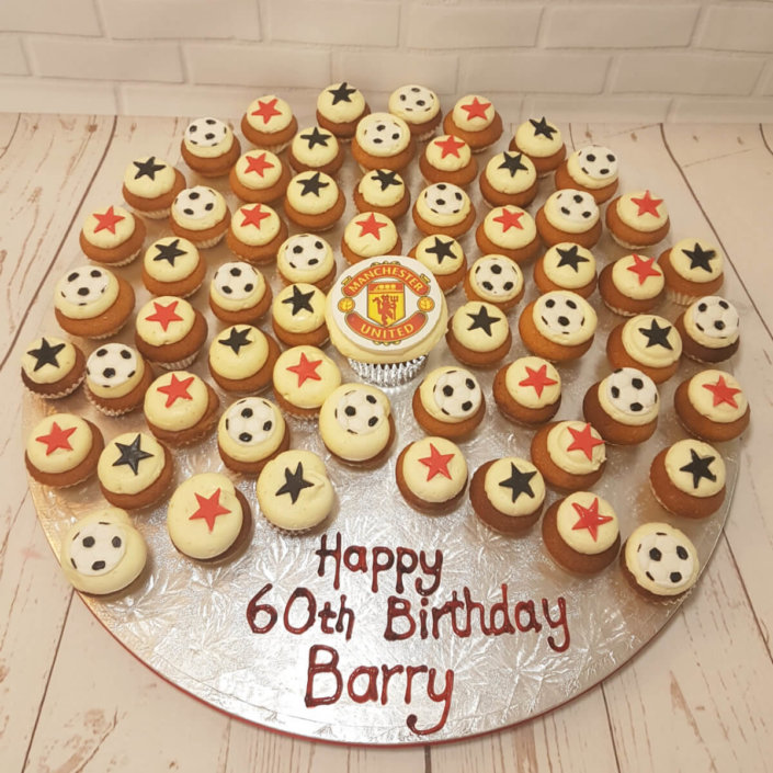 Man United football themed mini cupcakes - Tamworth