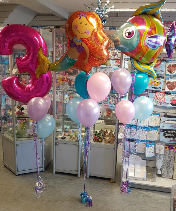 Mermaid & Fish balloon sprays - party Tamworth
