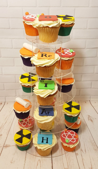 Science theme test tubes elements cupcakes - tamworth