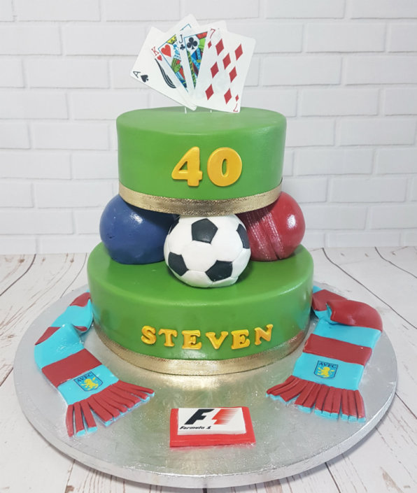 Multi-sport themed cake - Tamworth