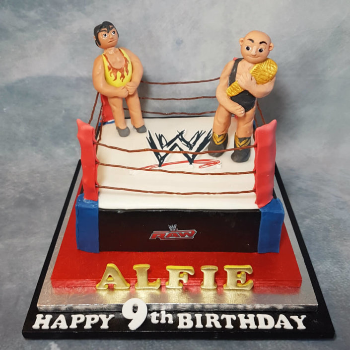 Wrestling ring WWF birthday cake - tamworth