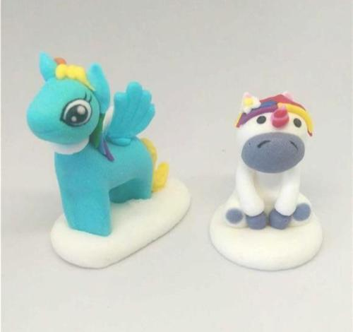 Unicorn sugar cake topper decorations - tamworth