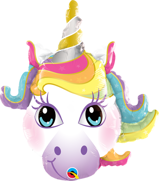 Unicorn face head balloon - tamworth party shop