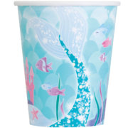 mermaid partyware paper cups - tamworth party shop
