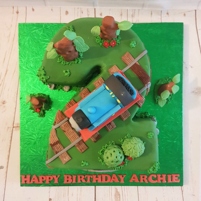 2nd birthday cake thomas land thomas tank engine topper - tamworth