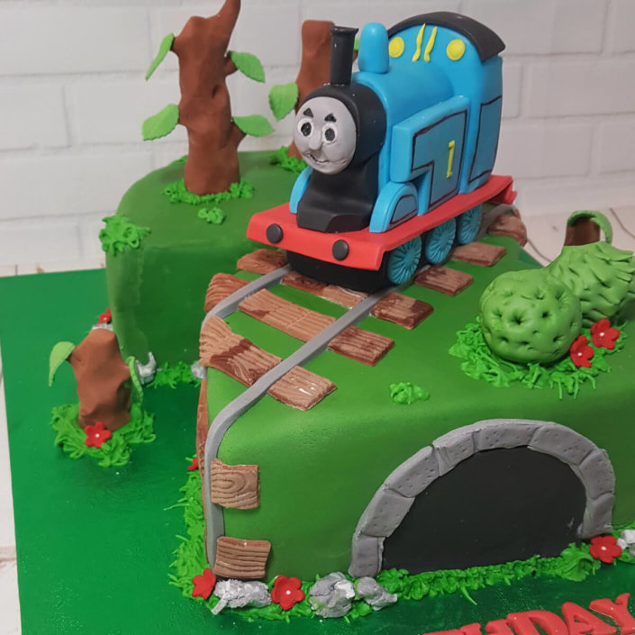 2nd birthda cake thomas tank engine cake topper - tamworth sutton coldfield drayton manor