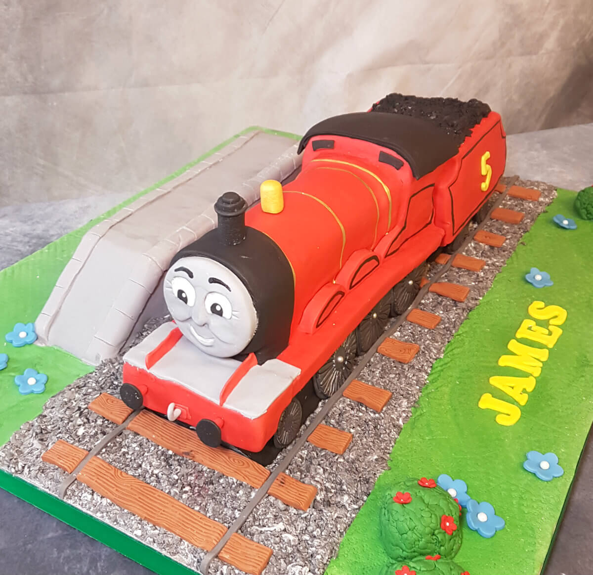 James from Thomas the tank engine sculpted novelty cake huge - tamworth sutton coldfield