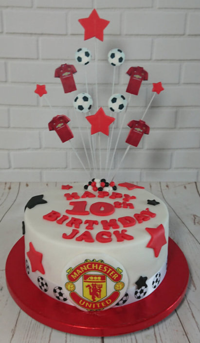 Manchester united theme birthday cake - tamworth sutton coldfield