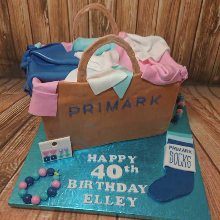 Primark brown paper bag cake - tamworth