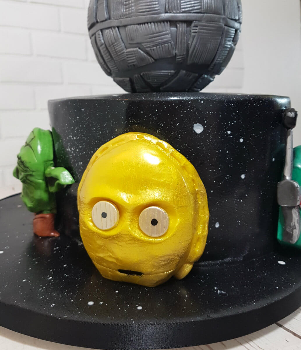 Star wars theme cake 3d head C3P0 - tamworth