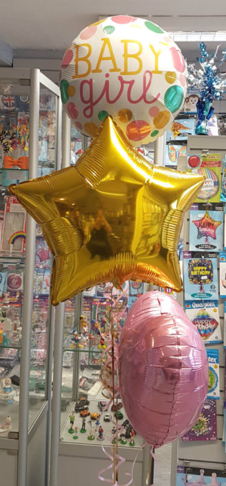 baby girl baby shower balloon spray - tamworth sutton coldfield