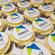 Corporate cupcakes merit display - tamworth