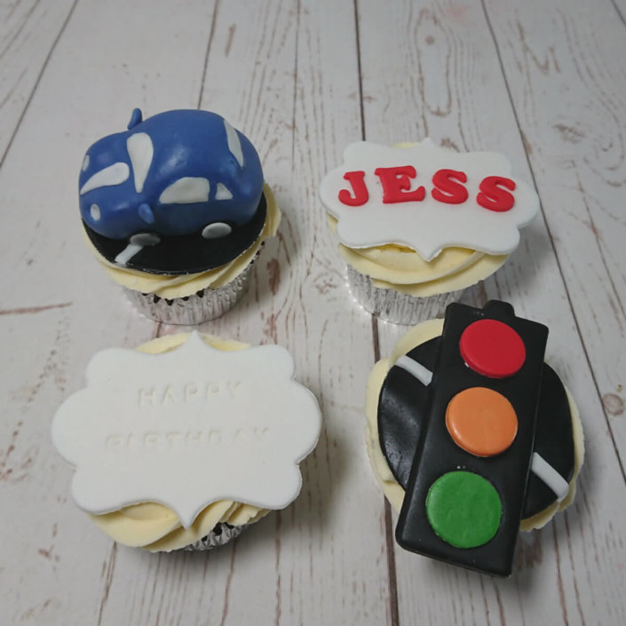Car traffic light theme cupcakes - tamworth sutton coldfield
