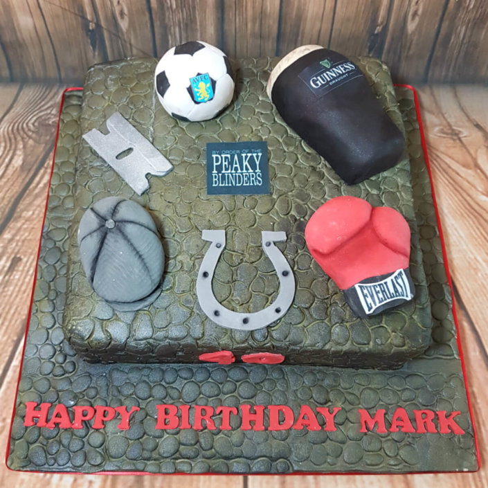 Peaky blinders theme cake - Tamworth Sutton Coldfield