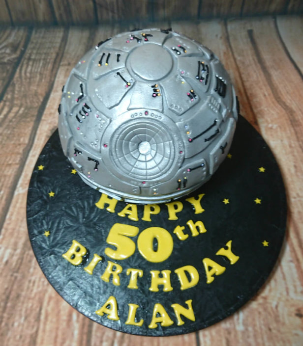 Star wars death star sculpted novelty cake - tamworth