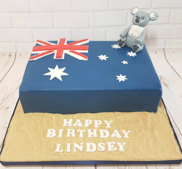 Koala australia theme birthday cake - Tamworth