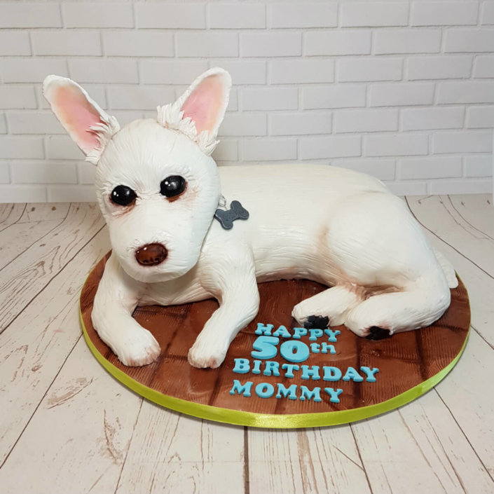 Sculpted novelty dog cake - Tamworth