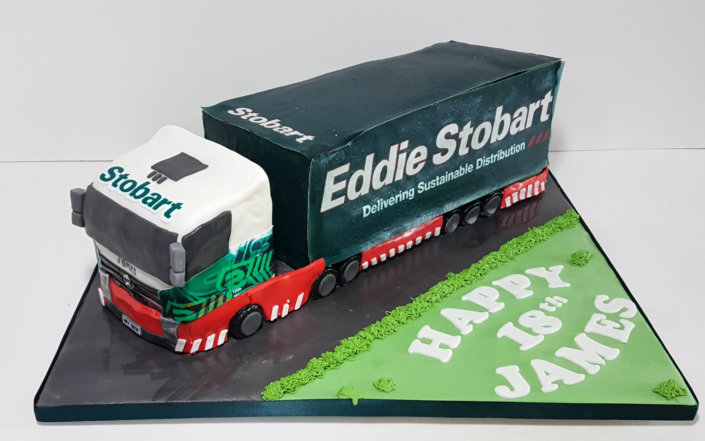 Eddie Stobart Sculpted novelty birthday cake - Tamworth