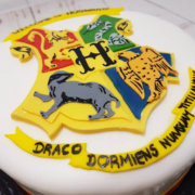 Harry Potter crest birthday cake - tamworth