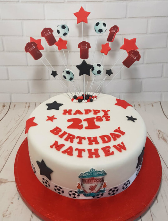 LFC star spray football cake - Tamworth