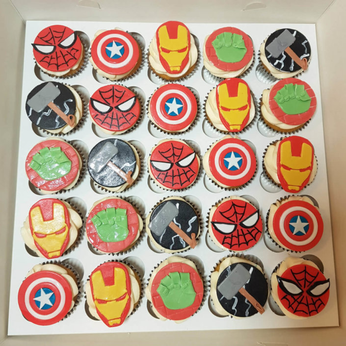 Marvel superhero cupcakes - Tamworth