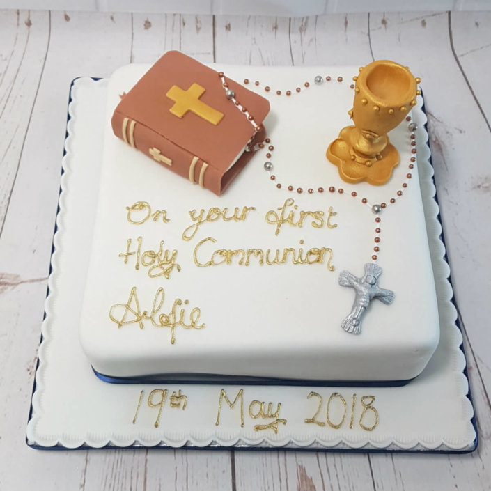 First Holy Communion celebration cake - Tamworth,