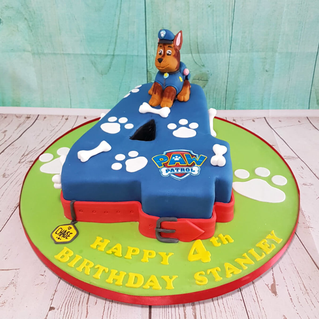 Paw Patrol 4 Shape Childrens Birthday Cake
