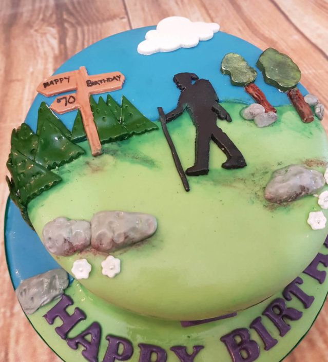 Rambler walking theme birthday cake - Tamworth