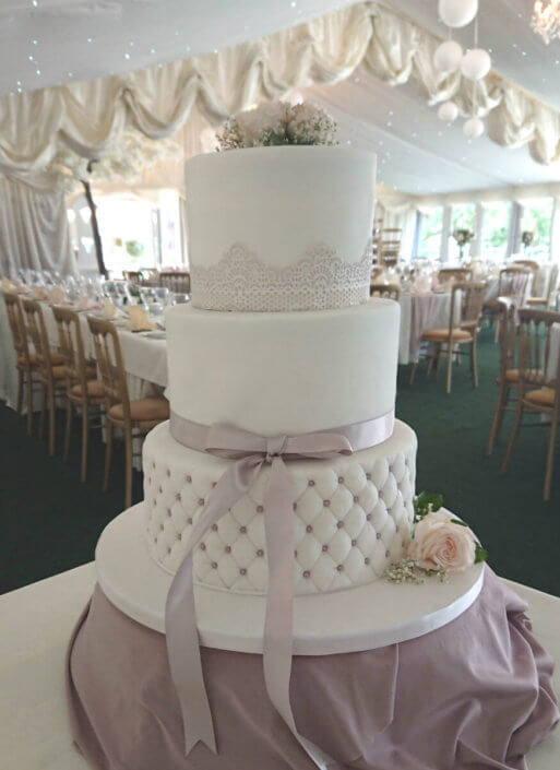 Simple quilted wedding cake - Tamworth