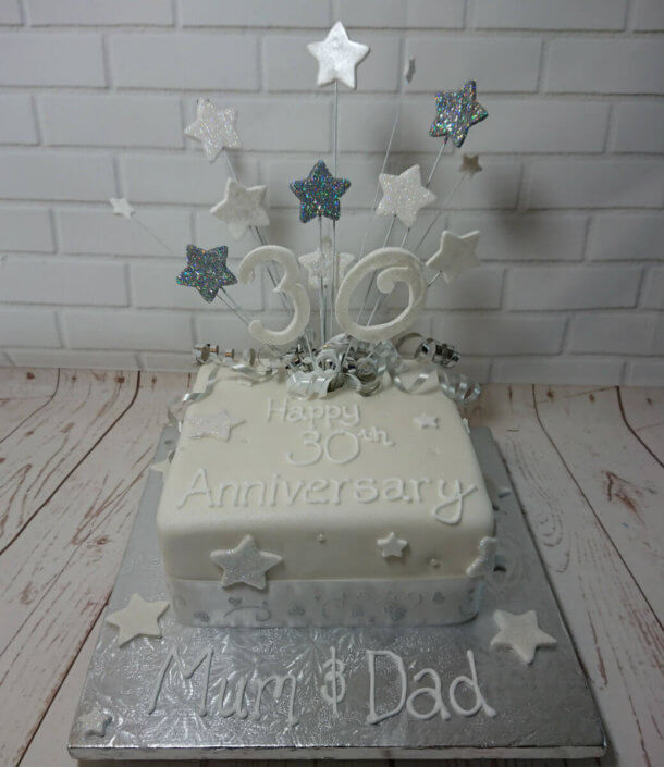 30th pearl anniversary cake - tamworth