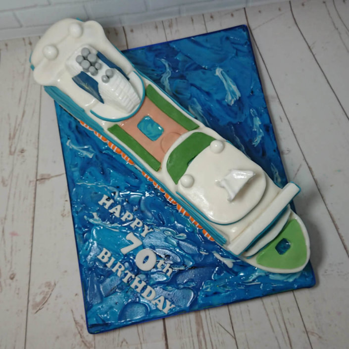 P&O cruise ship sculpted novelty cake - Quality Cake Company Tamworth