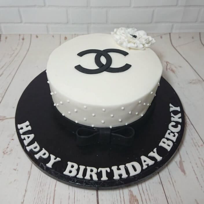 Elegant birthday cake Chanel - Tamworth