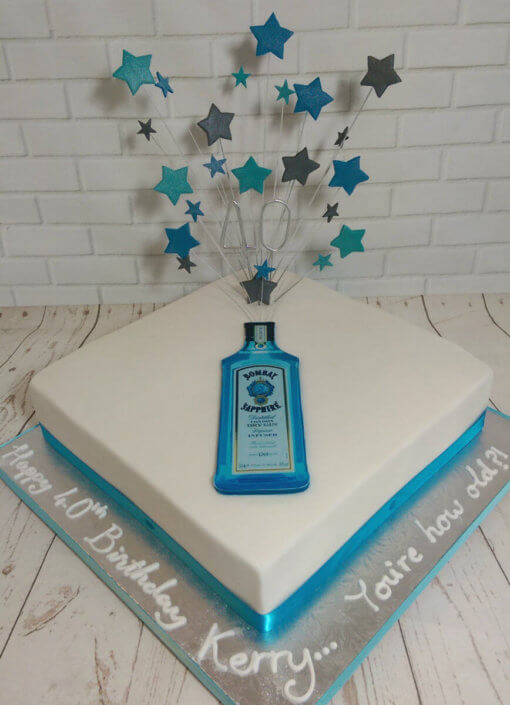 Gin star spray birthday cake - Tamworth
