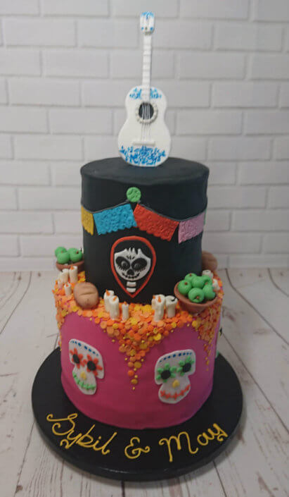 Coco film theme two tier birthday cake - Tamworth