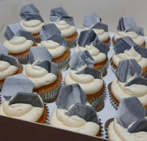 Grey marble hexagon cupcakes - Tamworth