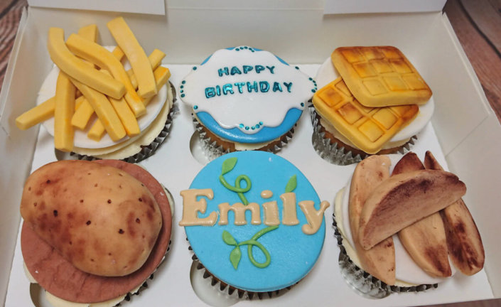 Potato fries chips wedges theme cupcakes - tamworth