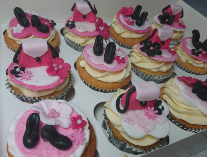 Shoes & Handbag theme cupcakes - Tamworth