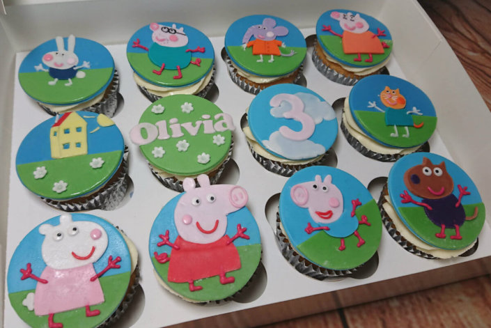 Peppa pig cupcakes - Tamworth