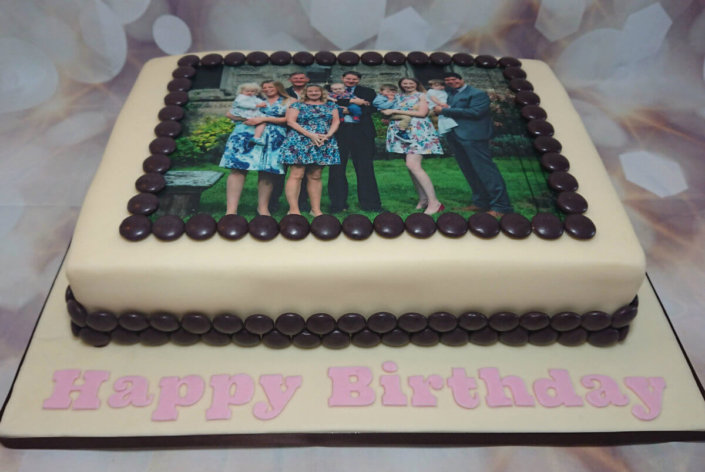 Photo print birthday cake - Tamworth