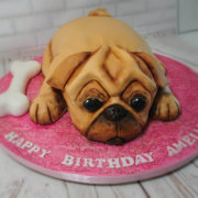 Sculpted novelty pug dog cake - Quality Cake Company Tamworth