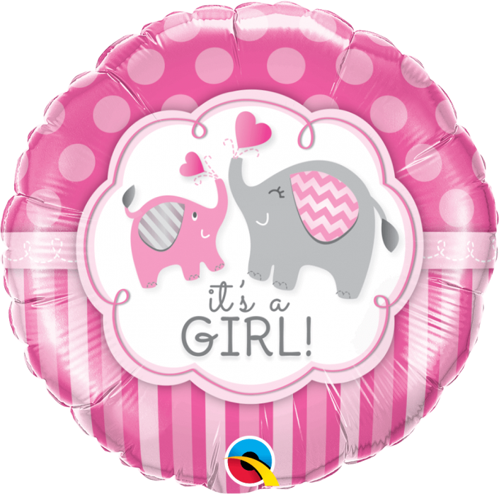 It's a girl, new baby helium balloons - tamworth