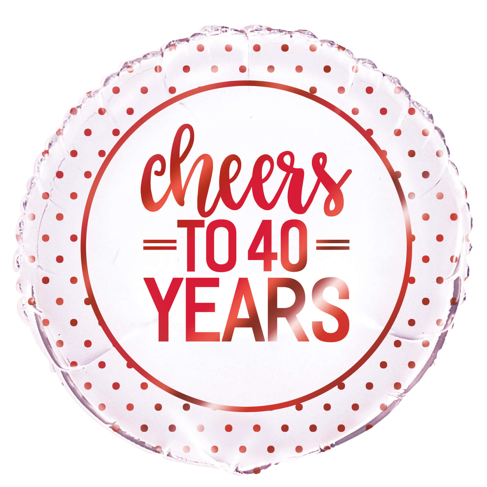 cheers to 40 years ruby anniversary helium balloons - tamworth birmingham