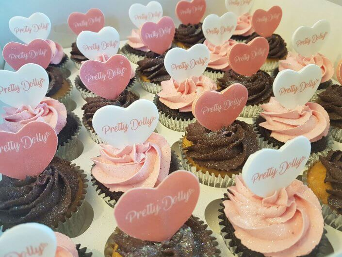 Pretty Dolly corporate cupcakes - Tamworth, Birmingham