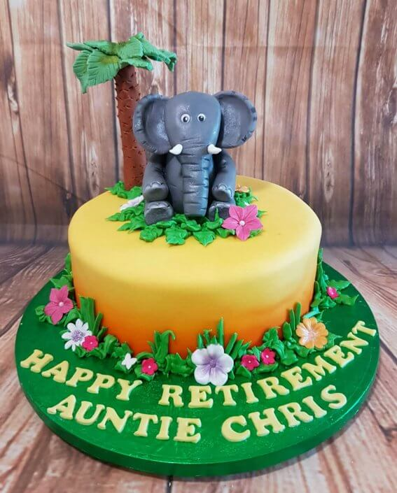 Elephant jungle theme cake - Quality Cake Company Tamworth