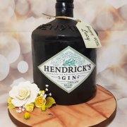 Hendricks Gin bottle sculpted novelty cake - Tamworth Birmingham