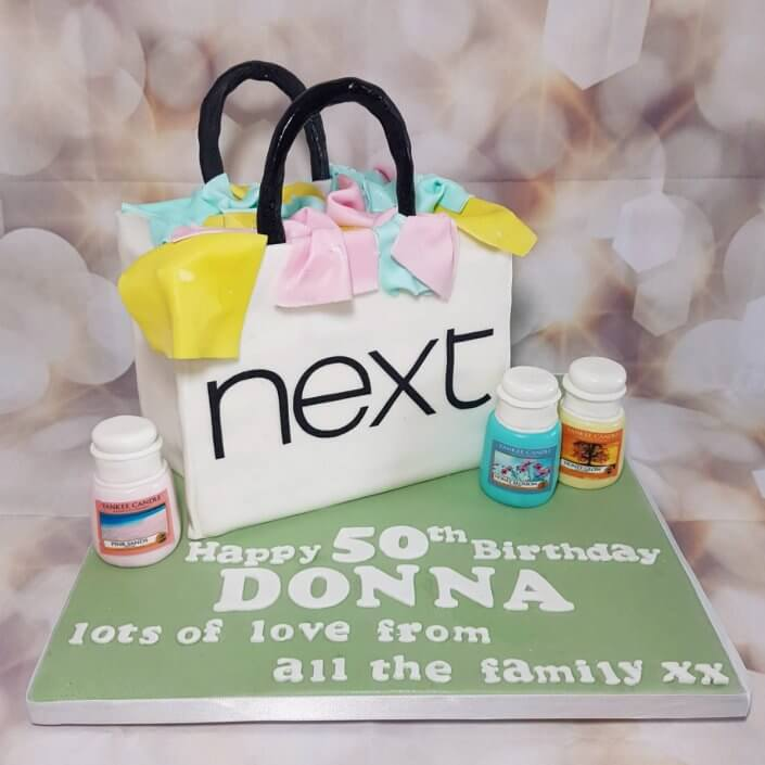 Next bag & yankee candles sculpted birthday cake - tamworth