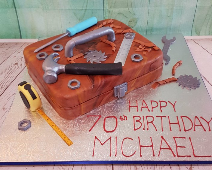 Toolbox novelty birthday cake - Quality Cake Company Tamworth