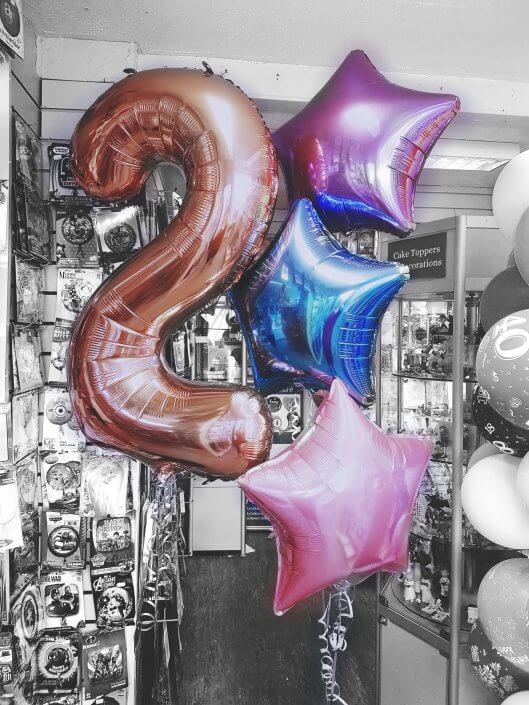 Rose gold 2 helium balloon - tamworth birmingham sutton coldfield